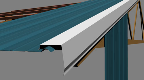 Steel trim applications detail drawings for Roof drawing app